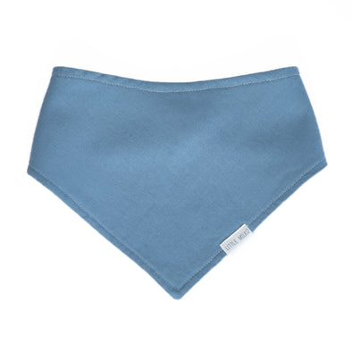 Blue Linen Dribble Bib