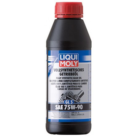 LIQUI MOLY FULLY SYNTHETIC GEAR OIL (GL5) SAE 75W-90