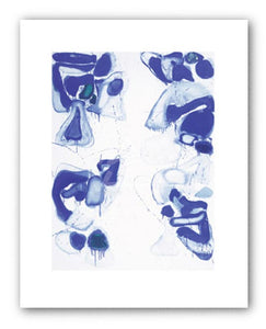 """Blue Composition on White Ground, 1960 - Serigraph"" - Sam Franc"
