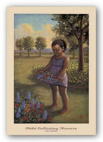 Child Collecting Flowers