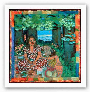 Picnic On The Grass Alone - Faith Ringgold