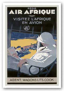 """Air Afrique - Reproduction Vintage Poster"