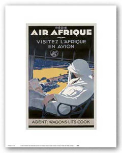 """Air Afrique - Reproduction Vintage Poster II"