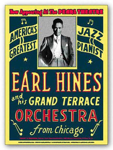 """Earl Hines - Reproduction Vintage Poster"