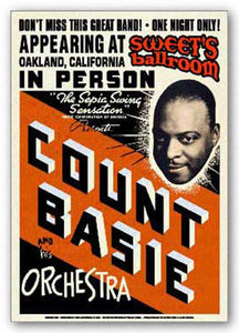"""Count Basie - Reproduction Vintage Poster"