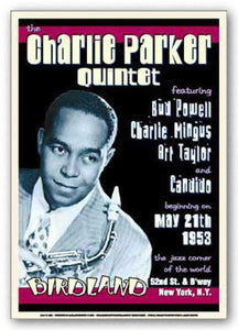 """Charlie Parker - Reproduction Vintage Poster"