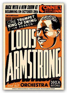 """Louis Armstrong - Reproduction Vintage Poster"