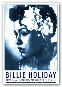 """Billie Holiday - Reproduction Vintage Poster"