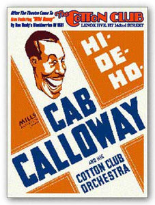 """Cab Calloway - Reproduction Vintage Poster"
