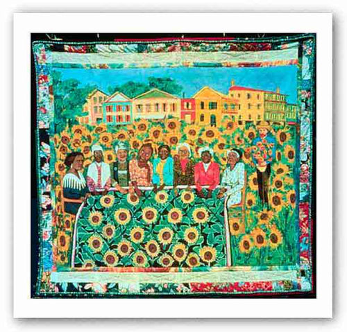 The Sunflower Quilting Bee At Arles - Serigraph - Faith Ringgold