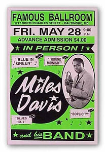 """Miles Davis - Limited Edition Serigraph"" - Reproduction Vintage"