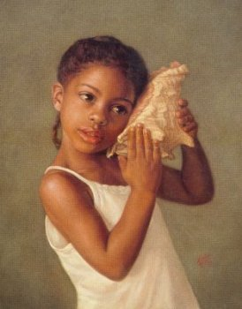 Young Girl With a Seashell