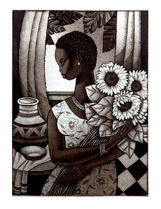 Sunflower by Keith Mallett