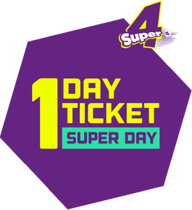 Super 4 Summer Flash Sale- One Day Ticket