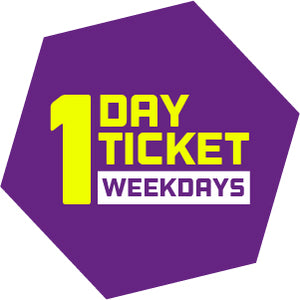 *One Day Ticket (Weekdays Only)