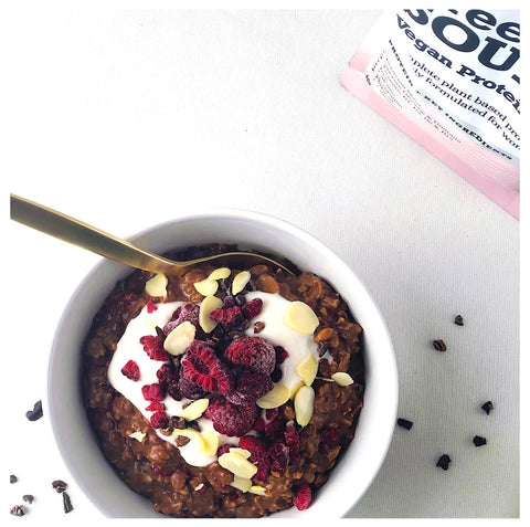 Chocolate Oat Protein Bowl