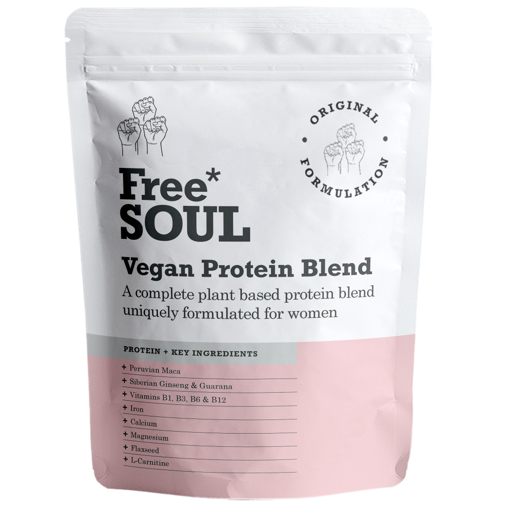 An image of Free Soul - Vegan Protein Shake 600g Formulated for Women, Chocolate