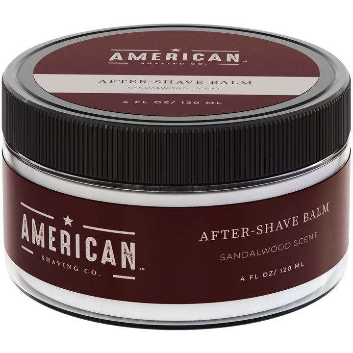 American Shaving After-Shave Balm, Sandalwood Barbershop Scent, 4 fl. oz. (Packaging May Vary)