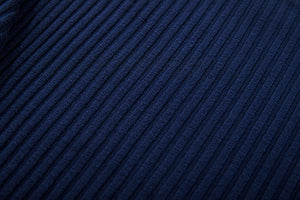 detailed view of blue pullover fabric