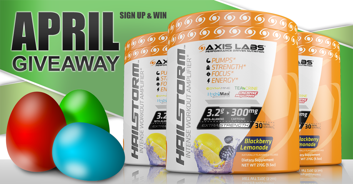 hailstorm april sign up and win