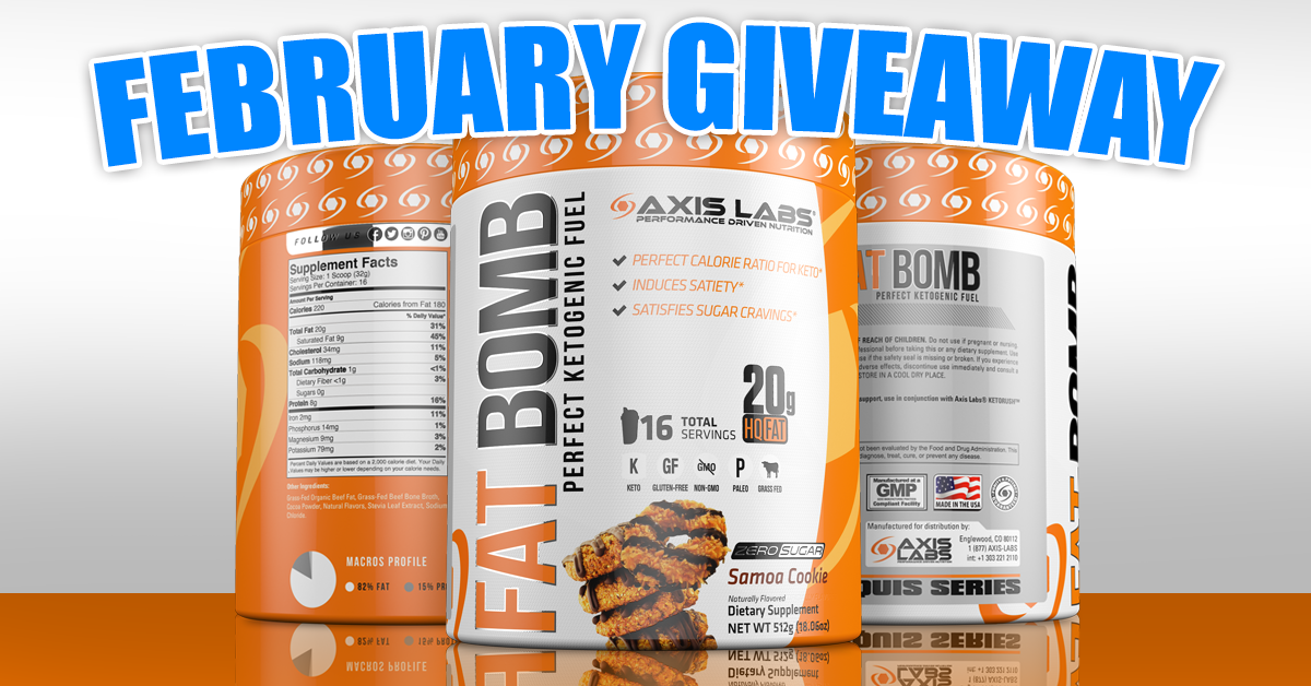 axis labs chance to win a free fat bomb when you sign up