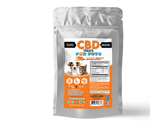 CBD Treats for Pets Cheddar Bacon 30 Treats