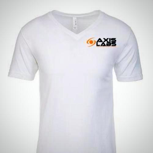 High Quality Very Soft Classic White Axis Labs V-Neck