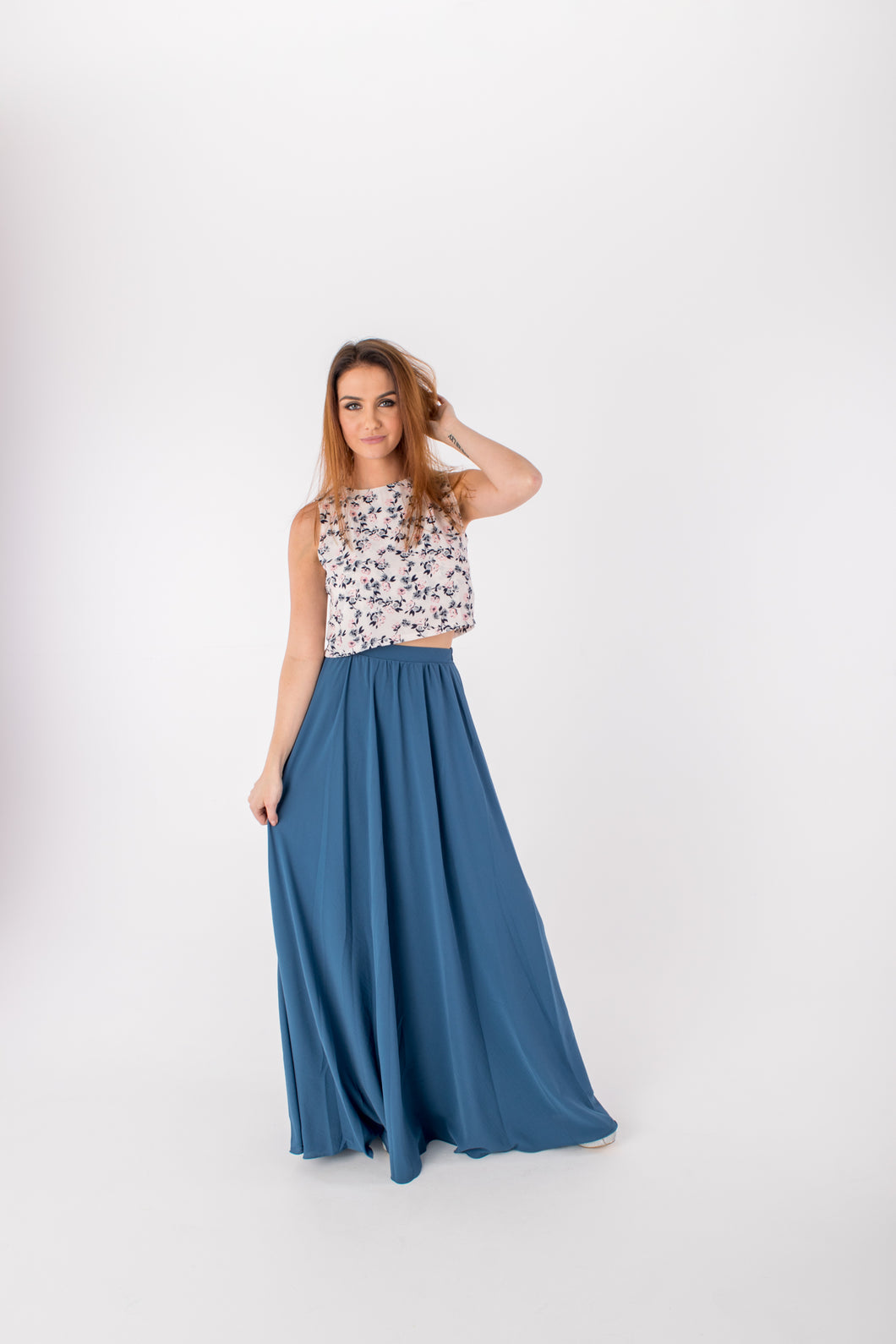 Kelly Maxi Skirt Paradise Blue