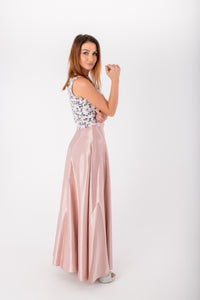 Rose Gold Maxi Skirt