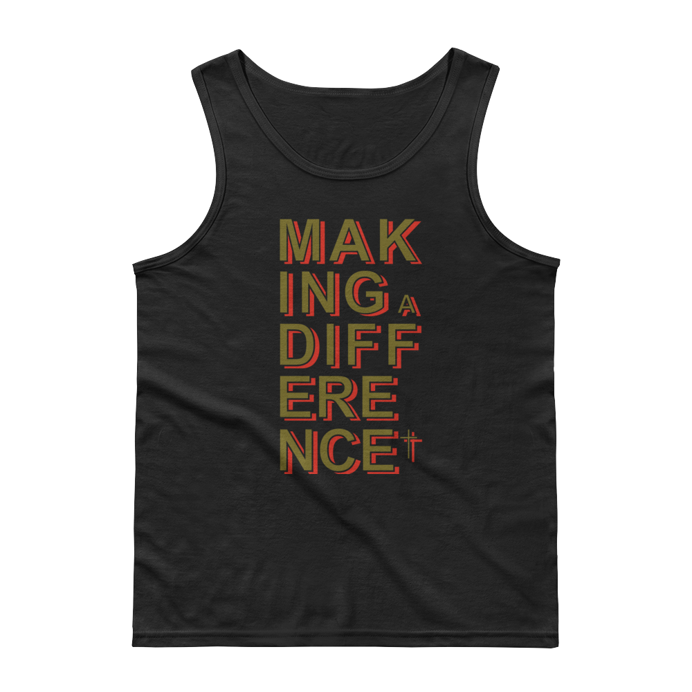 Christian Clothing Black Making a Difference Design Tank Top