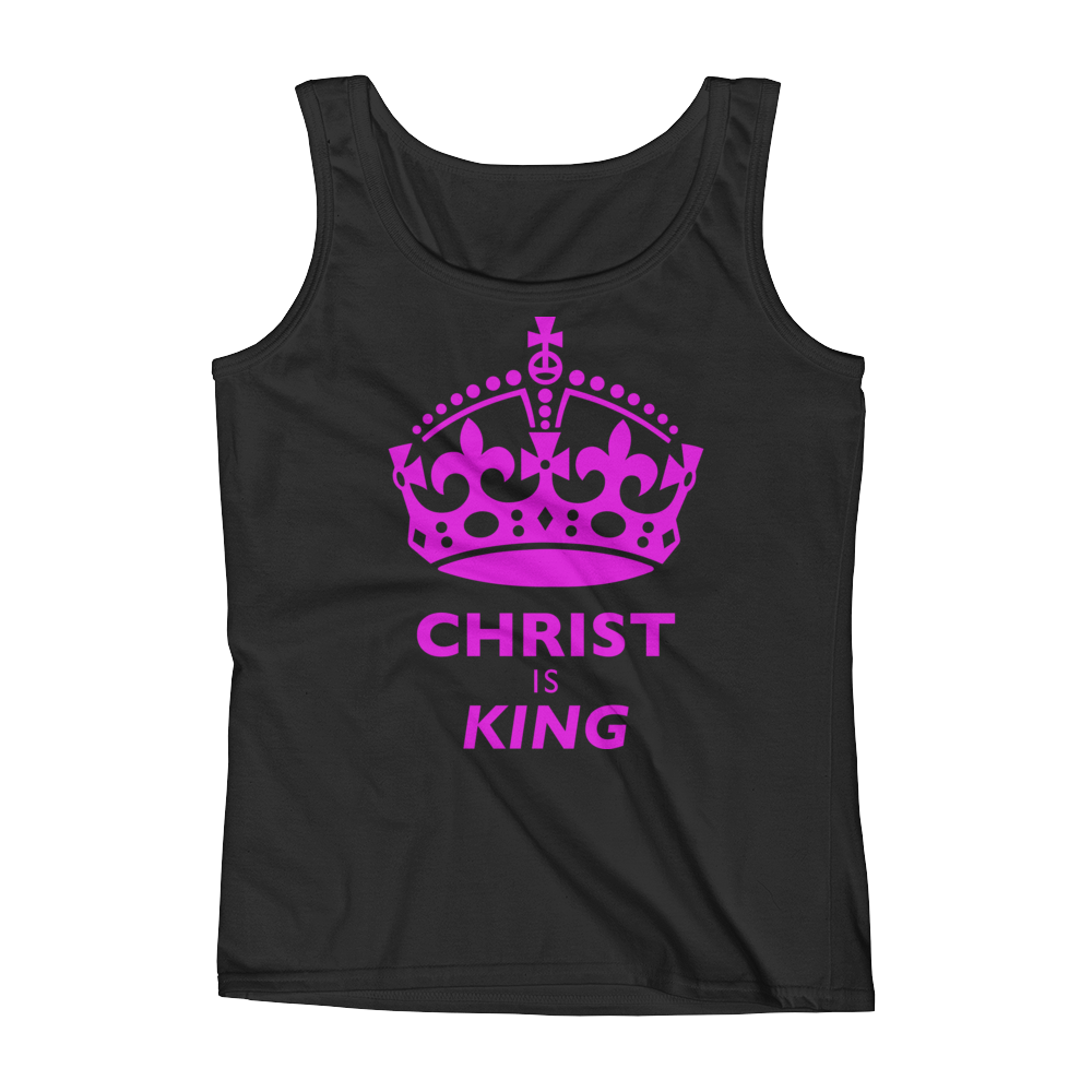 Christian Clothing Black Christ is King DesignTank Top