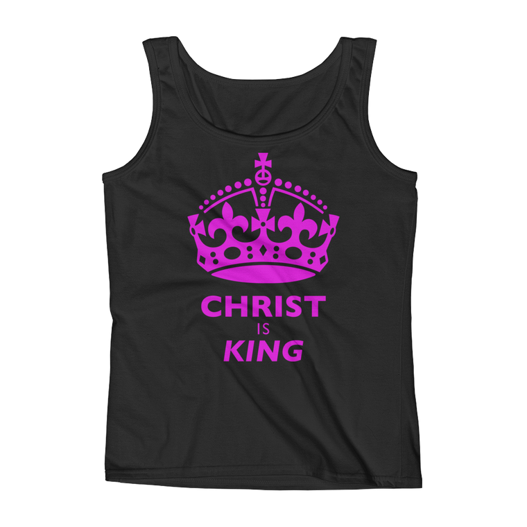 Christ is King Fitted Tank Top