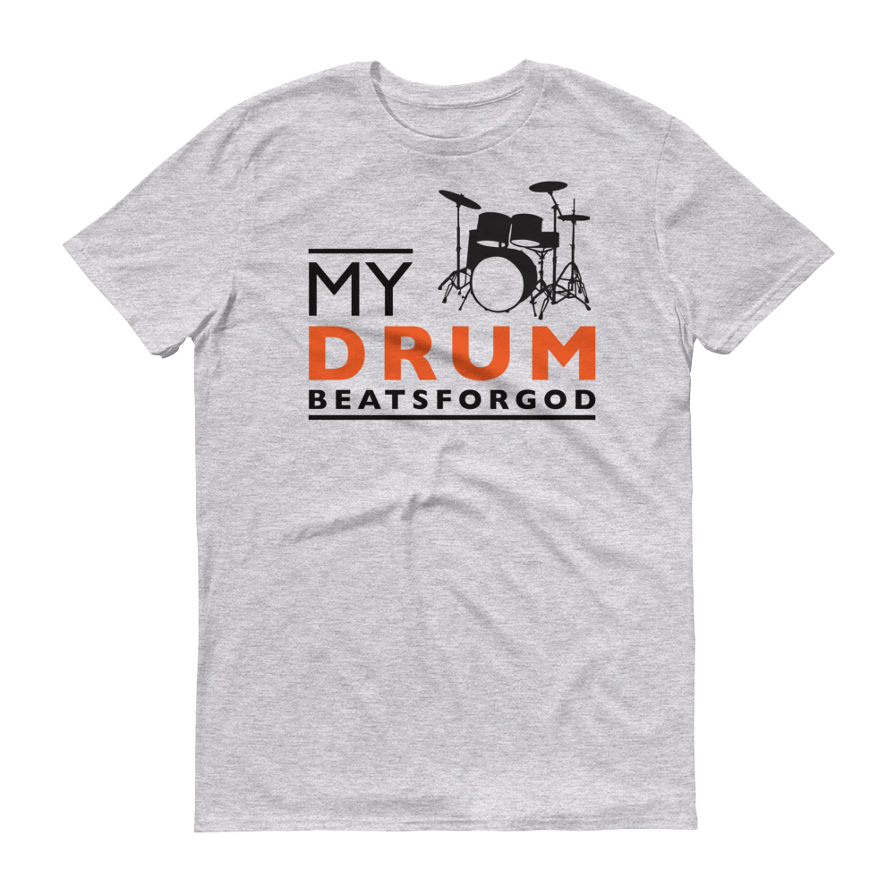 Christian Tees Grey My Drum Beats Design Tee