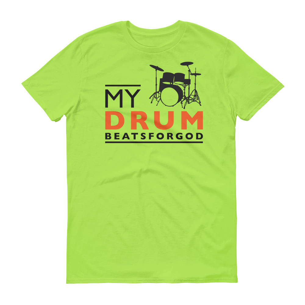 Christian Tees Lime My Drum Beats Design Tee