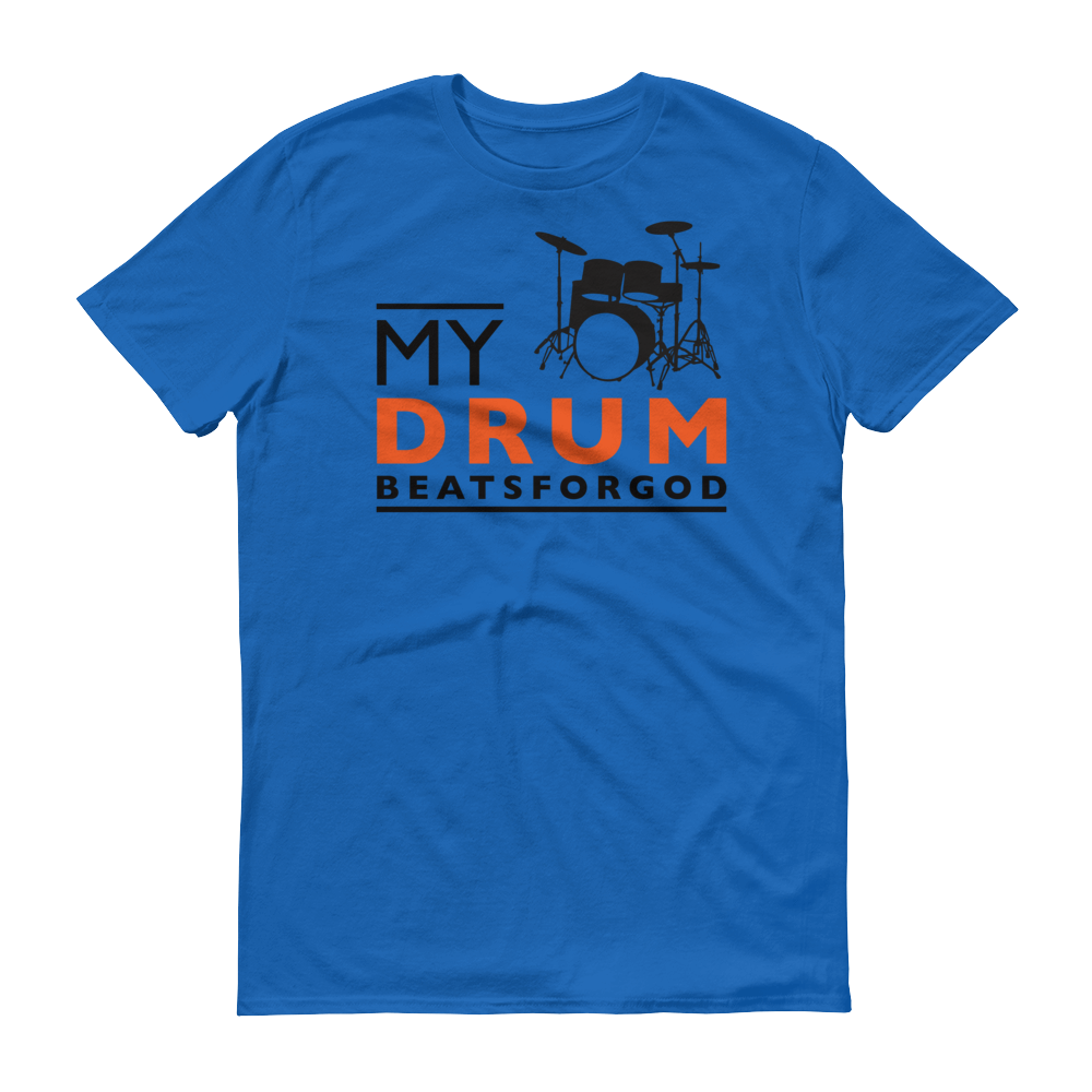 Christian Tees Royal Blue My Drum Beats Design Tee