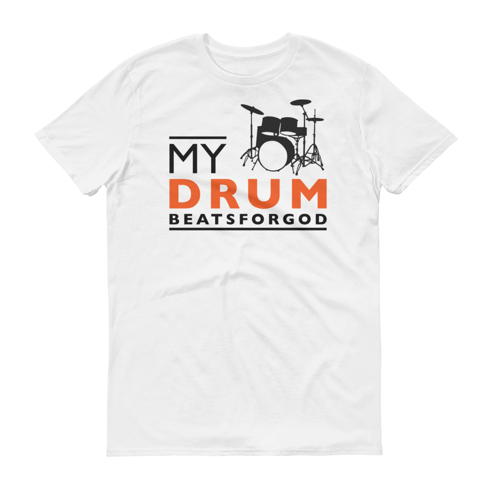 Christian Tees White My Drum Beats Design Tee