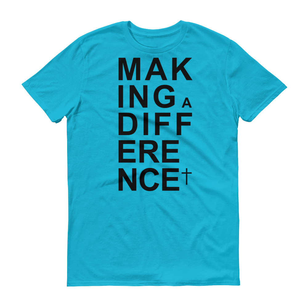 Christian Tees Blue Making a Difference Design Tee