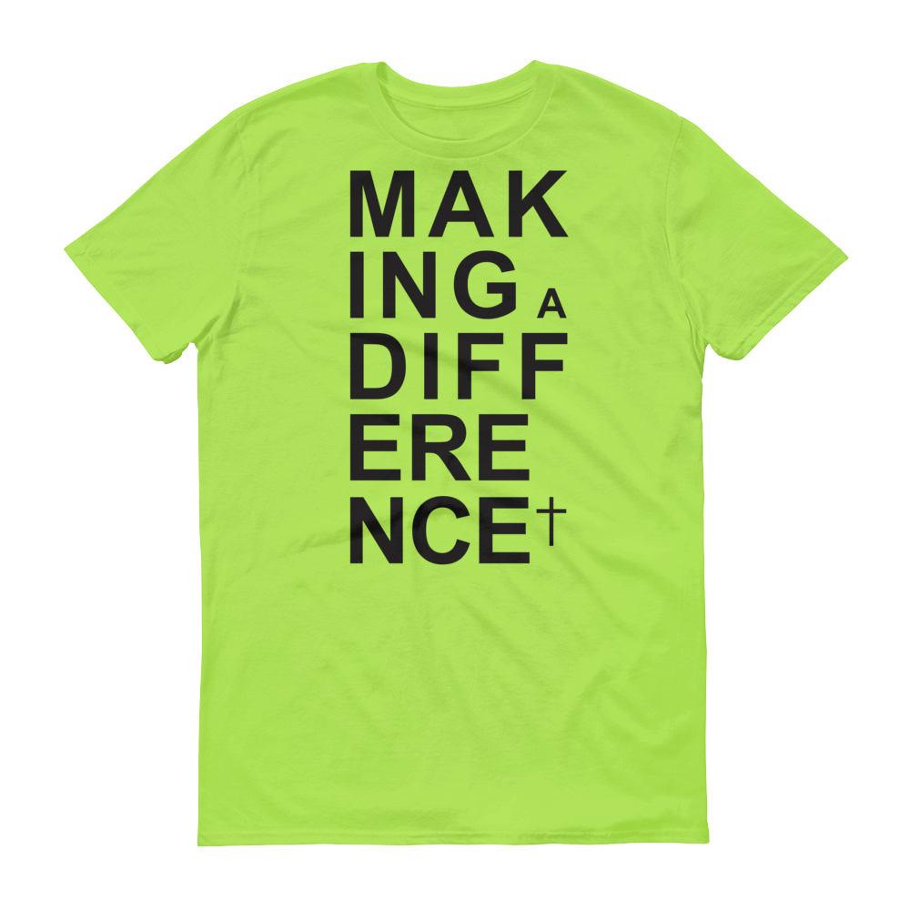 Christian Tees Lime Making a Difference Design Tee