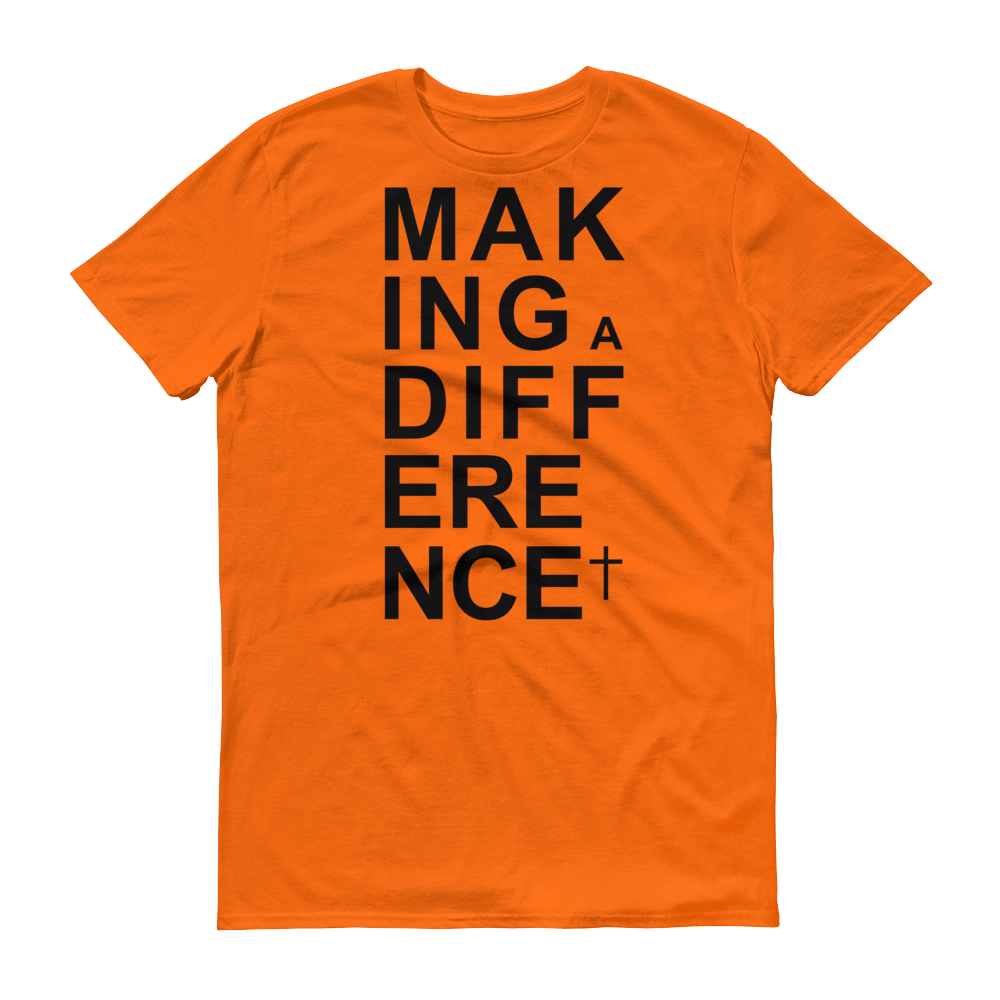 Christian Tees Orange Making a Difference Design Tee
