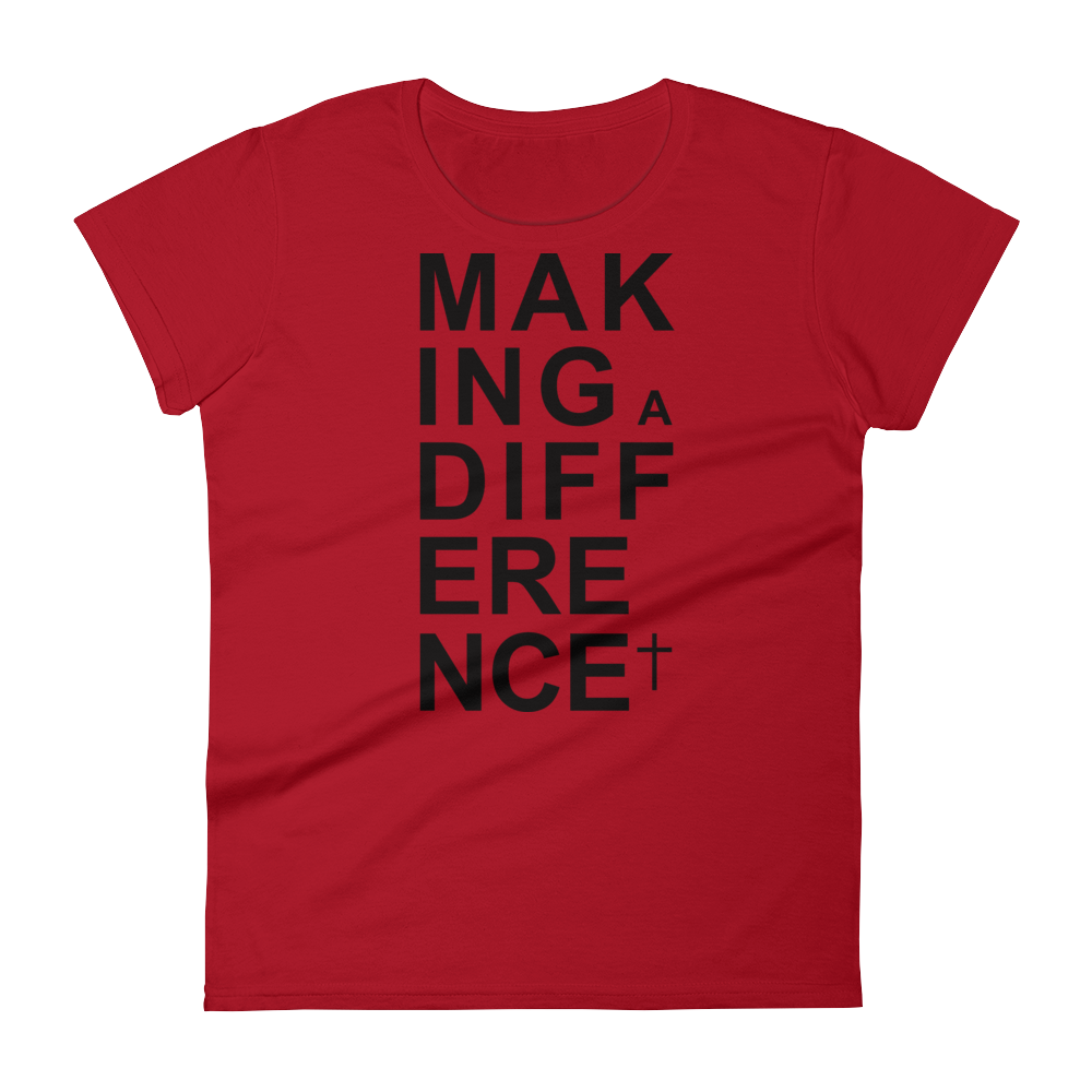 Christian Tees Red Making a Difference Design Tee