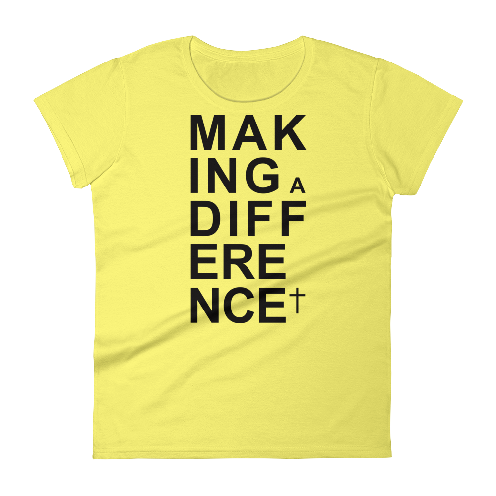 Christian Tees Yellow Making a Difference Design Tee