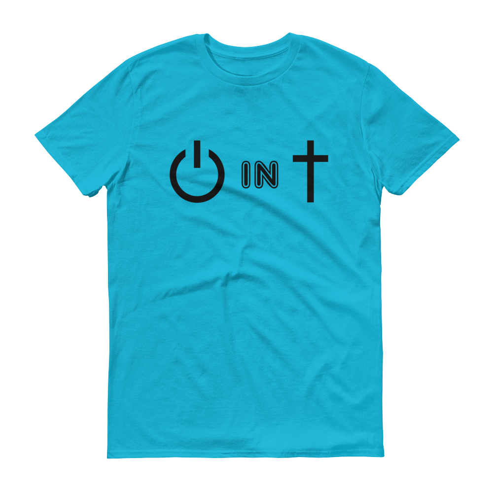 Christian Tees Blue Power In Christ Design Tee