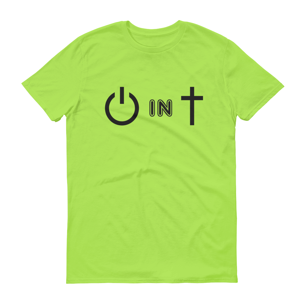 Christian Tees Lime Power In Christ Design Tee