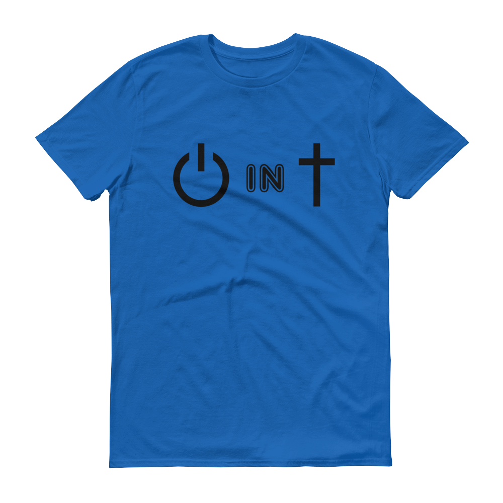 Christian Tees Royal Blue Power In Christ Design Tee
