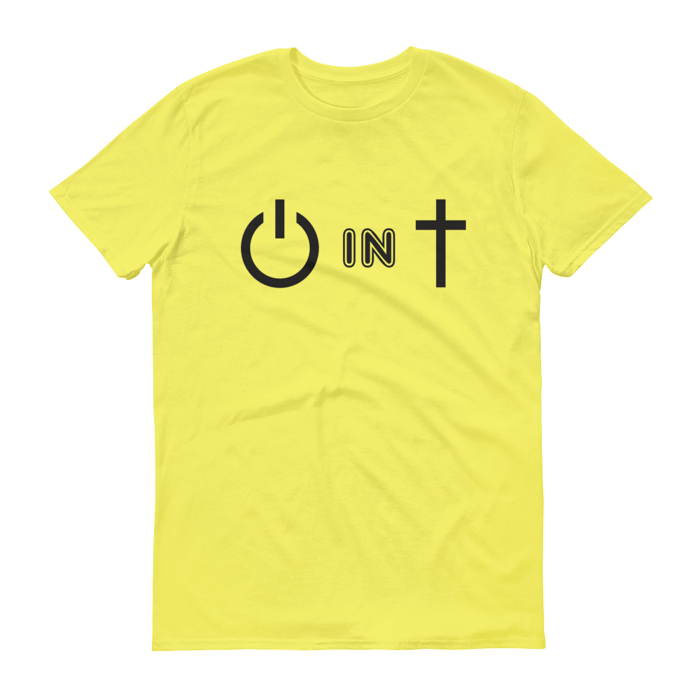 Christian Tees Yellow Power In Christ Design Tee