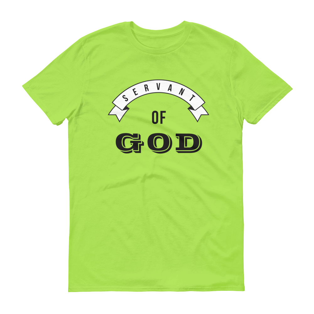 Christian Tees Lime Servant of God Design Tee