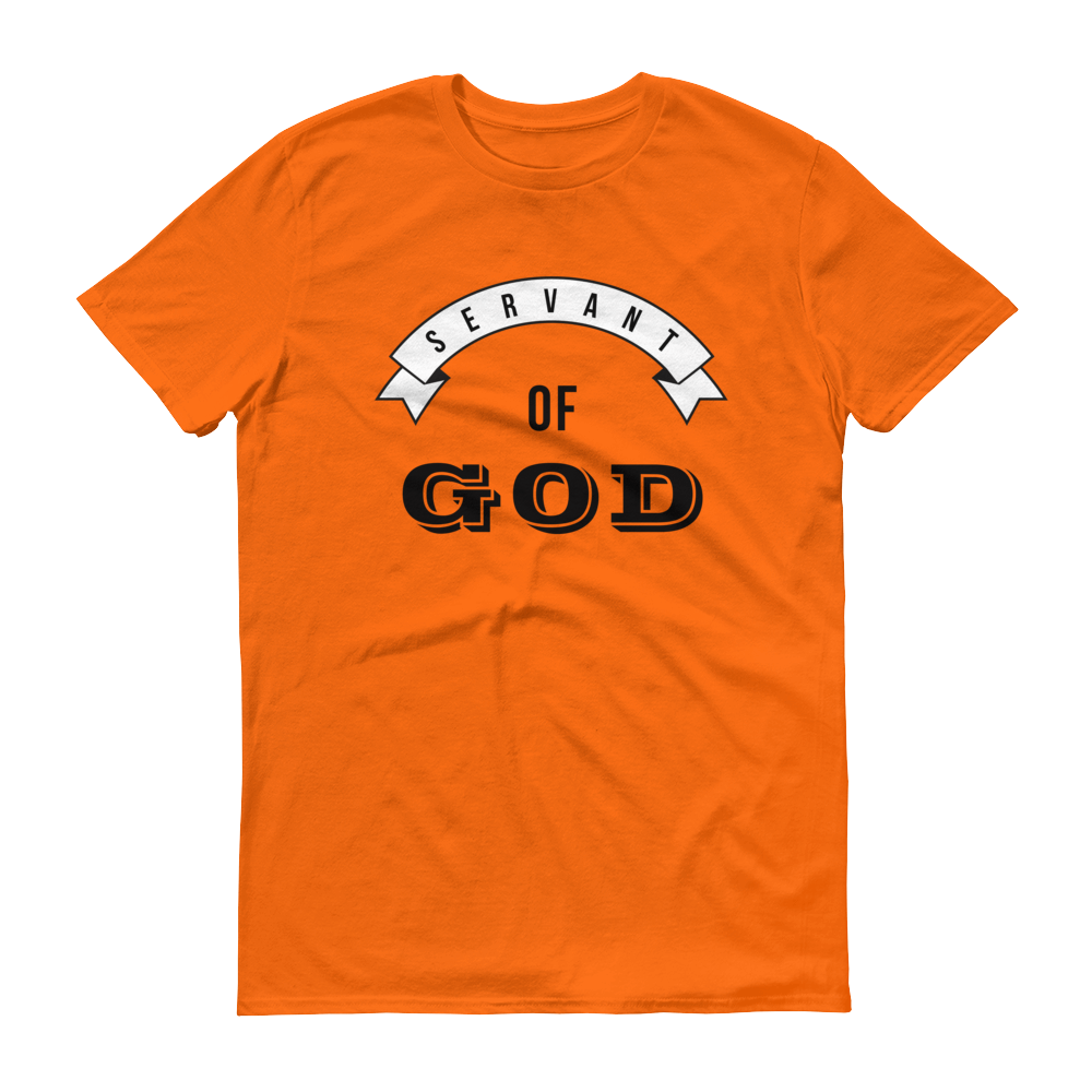 Christian Tees Orange Servant of God Design Tee