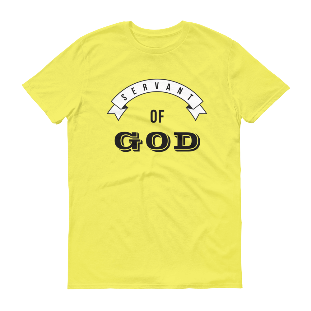 Christian Tees Yellow Servant of God Design Tee