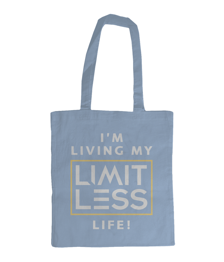 Christian Accessories Light Blue Limitless Life Design Tote Bag