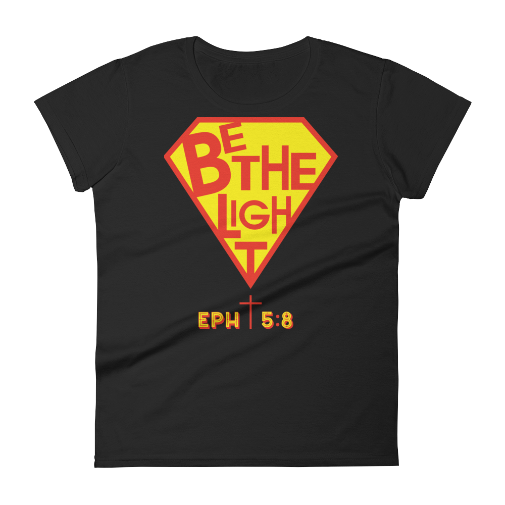 Christian Clothing Black Be The Light Fitted Women's Tee